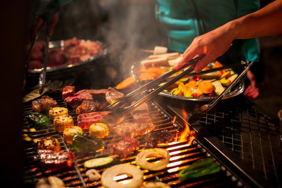 BBQコーナー(ライジングフィールド軽井沢)